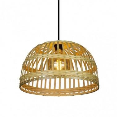 Lámpara de Techo Bambú Fargesia Campana Natural  Lámparas de techo