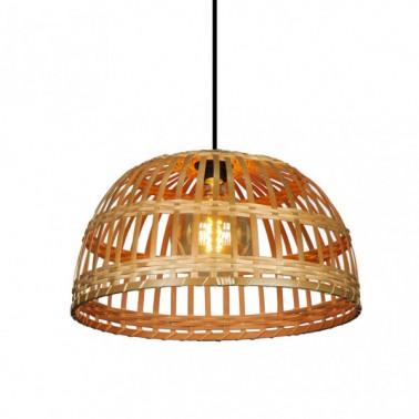 Lámpara de Techo Bambú Fargesia Campana Avellana  Lámparas de techo