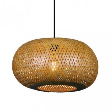 Lámpara de Techo Bambú Fargesia Reja Avellana  Lámparas de techo