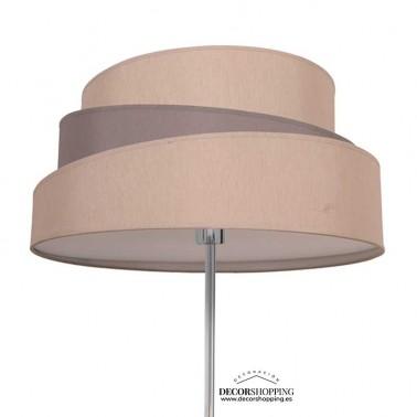 Lámpara de Pie Beige/Gris Topo Serie Colonia  Lámparas de pie