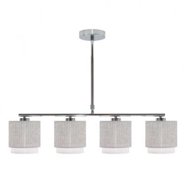 Lámpara de Techo 4 Luces Gris/Blanca Kenya  Lámparas de techo