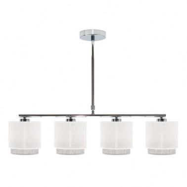 Lámpara de Techo 4 Luces Blanca/Gris Kenya  Lámparas de techo
