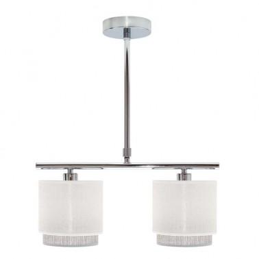Lámpara de Techo 2 Luces Blanca/Gris Kenya  Lámparas de techo