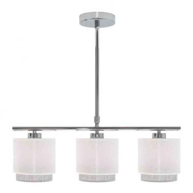 Lámpara de Techo 3 Luces Blanca/Gris Kenya  Lámparas de techo