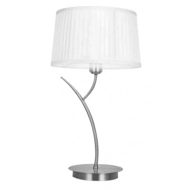 Lámpara de Sobremesa Lecce Cromo Blanca  Lámparas de sobremesa