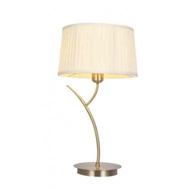 Lámpara de Sobremesa Lecce Cuero y Beige  Lámparas de sobremesa