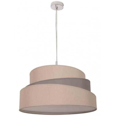 Lámpara de Techo con Pantalla Beige/Gris Topo Serie Colonia  Lámparas de techo