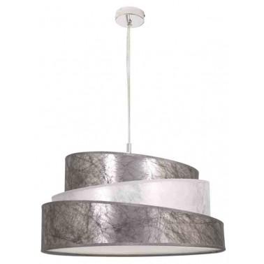 Lámpara de Techo con Pantalla Color Plata/Blanco Serie Colonia  Lámparas de techo