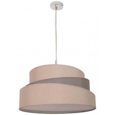 Lámpara de Techo con Pantalla 40 Beige/Gris Topo Serie Colonia  Lámparas de techo