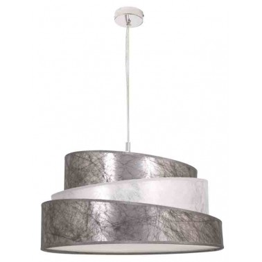 Lámpara de Techo con Pantalla 40 Color Plata/Blanco Serie Colonia  Lámparas de techo