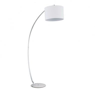 Lámpara de Pie Cromo Blanca Estilo Moderno  Lámparas de pie