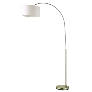 Lámpara de Pie con Pantalla Beige Serie Polux  Lámparas de pie