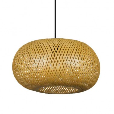 Lámpara de Techo Bambú Fargesia Reja Natural  Lámparas de techo