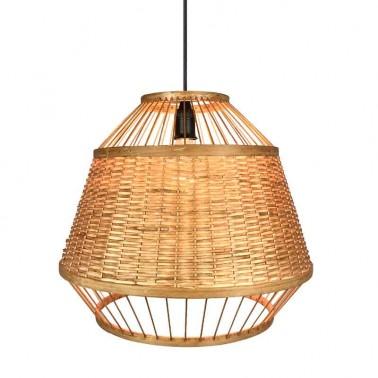 Lámpara de Techo Bambú Campana Serie Croton  Lámparas de techo
