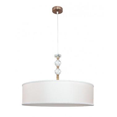 Lámpara de Techo Blanca Cristales Serie Santa Maria  Lámparas de techo