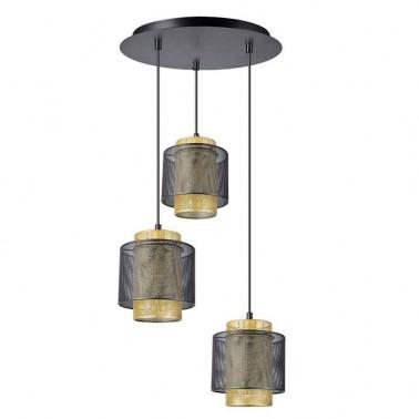 Lámpara de Techo Negro y Oro Serie Yamizaki  Lámparas de techo