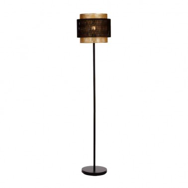 Lámpara de Pie Negro y Oro Serie Yamizaki  Lámparas de pie