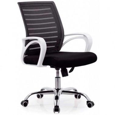 Silla Oficina Basculante Negro y Blanco Serie Lui  Sillas Oficina y Escritorio