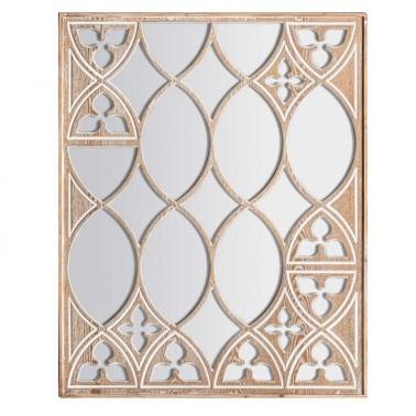 Espejo de Pared Madera Tallada Serie Bintan  Espejos