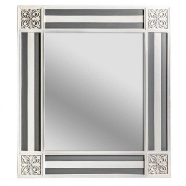 Espejo de Pared Blanco y Gris Colección Enora  Espejos