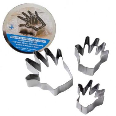 Moldes para galletas forma de manos  Cocina y accesorios