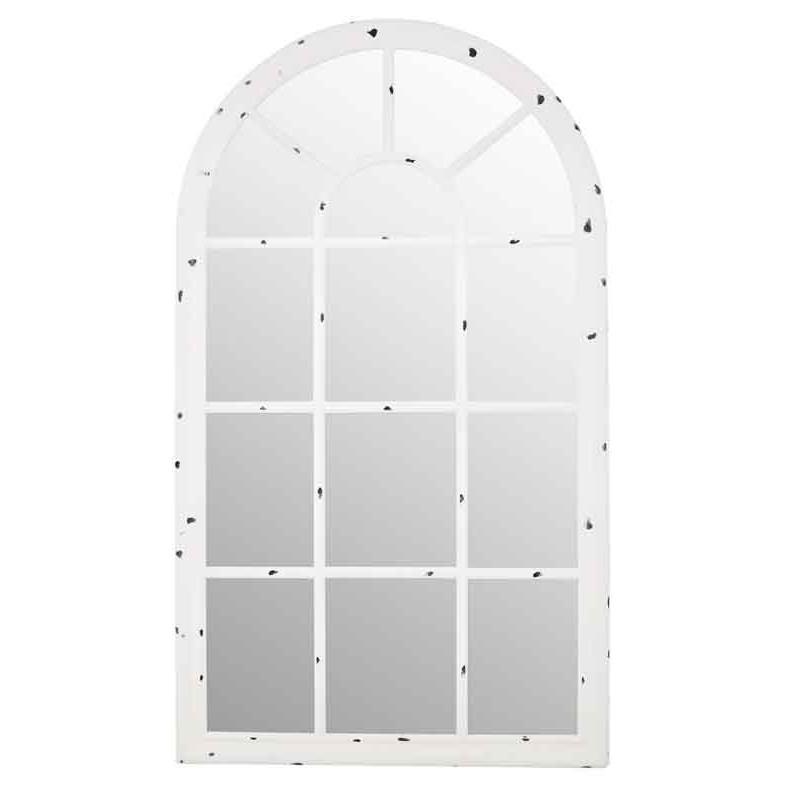 Espejo ventana Carol decapado blanco  Espejos