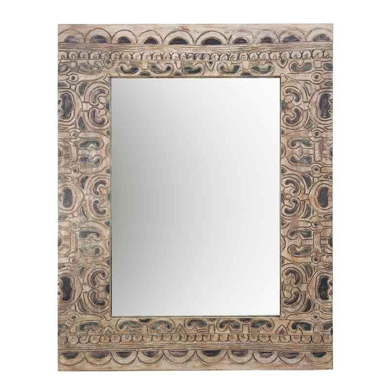 Espejo estilo étnico marco tallado a mano  Espejos