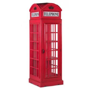 Vitrina cabina teléfono Estilo Británico grande  Muebles Auxiliares