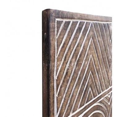 Panel de madera tallado diseño geometría  Cuadros