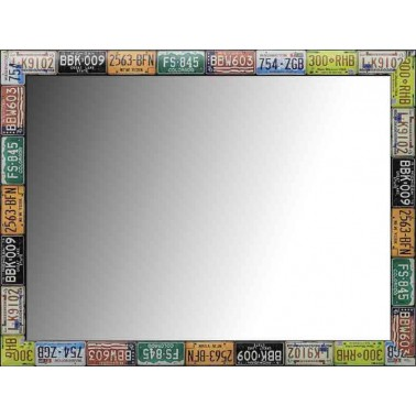 Espejo de Pared Moldura Matriculas  Espejos