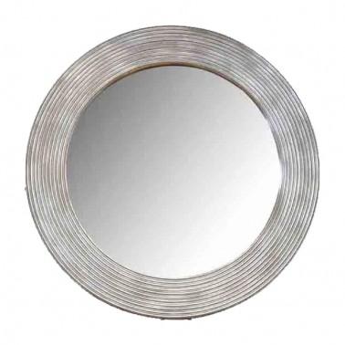 Espejo de Pared Circular con Marco Tallado  Espejos