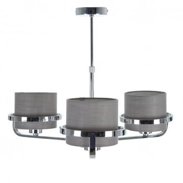 Lámpara de Techo Metálica Color Plata  Lámparas de techo