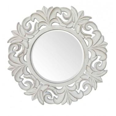 Espejo Pared Redondo Blanco  Espejos