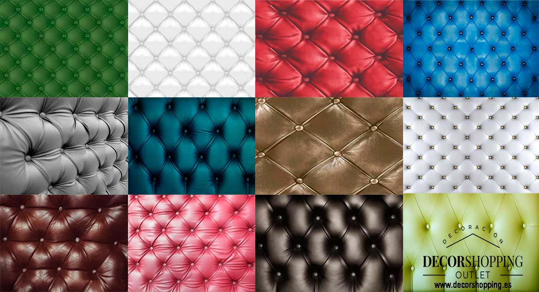 Diversos estilos de tapizado capitoné