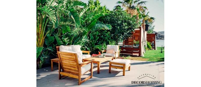 Diez ejemplos de muebles auxiliares imprescindibles para terraza o jardín
